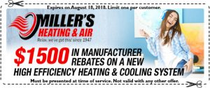 Miller's Heating Coupon